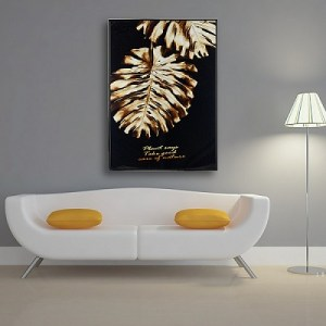 Панно «Monstera Gold Leaf»
